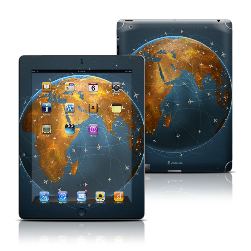 iPad 3rd & 4th Gen Skin design of Planet, Earth, Astronomical object, World, Atmosphere, Globe, Space, Sky, Astronomy, Circle with blue, yellow, brown colors