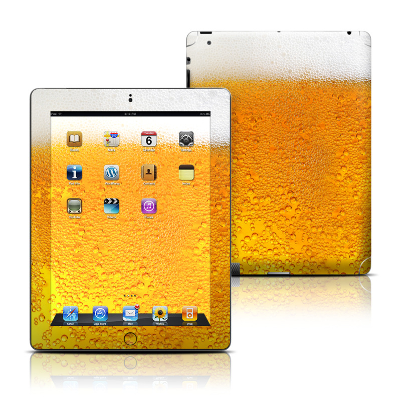 Beer Bubbles Apple iPad Skin