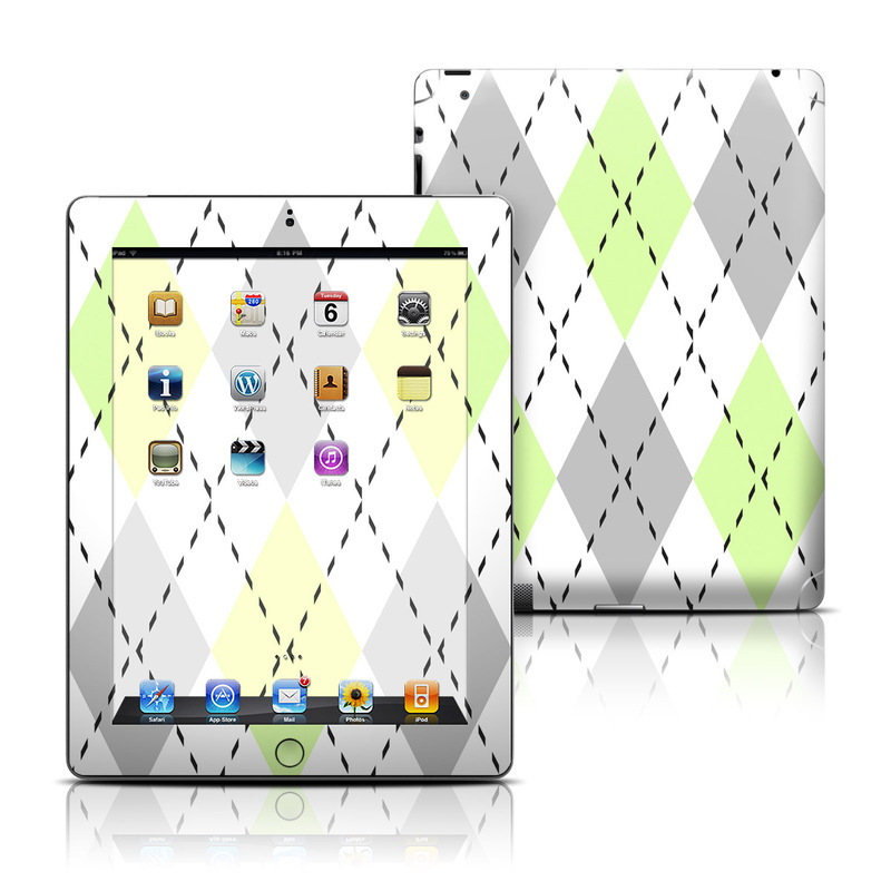 Mint Argyle iPad Skin