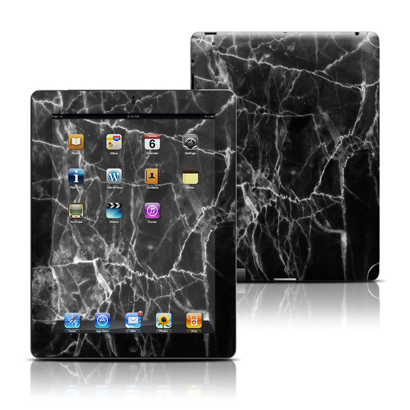 Black Marble iPad 3rd & 4th Gen Skin