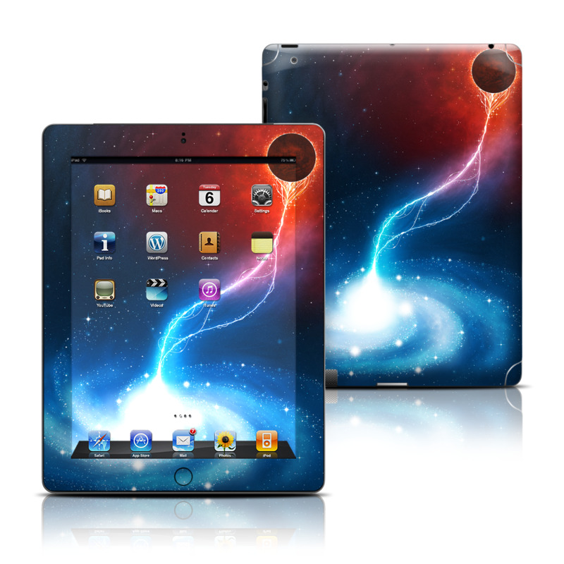 iPad 3rd & 4th Gen Skin design of Outer space, Atmosphere, Astronomical object, Universe, Space, Sky, Planet, Astronomy, Celestial event, Galaxy with blue, red, black colors