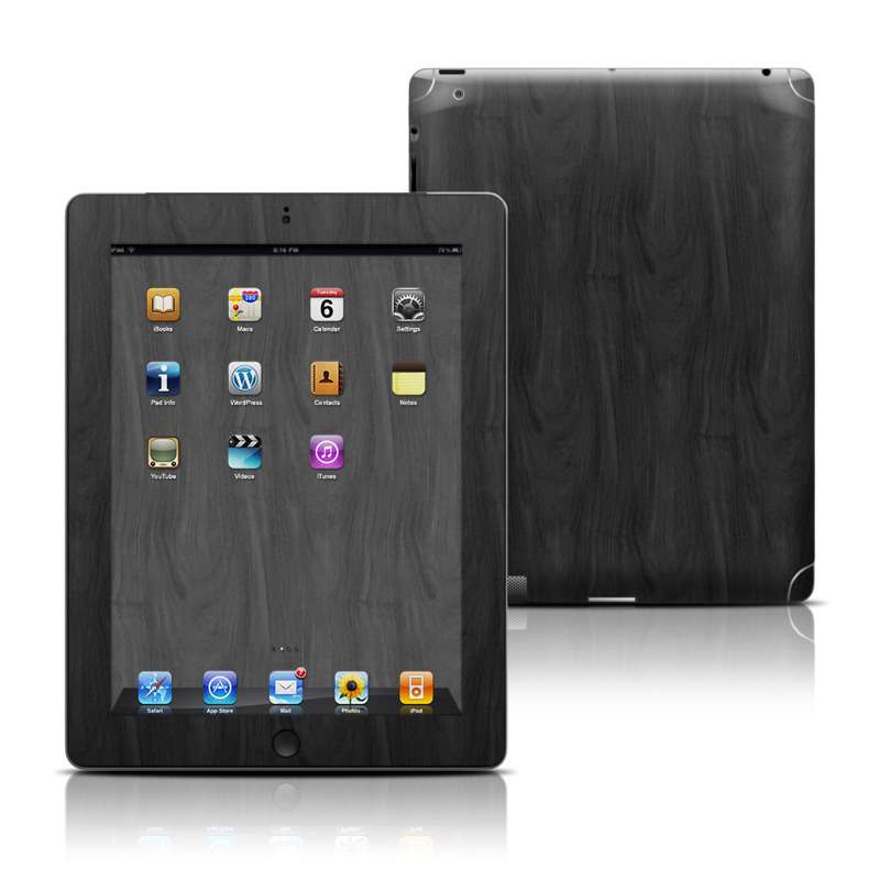 Black Woodgrain iPad 3rd & 4th Gen Skin