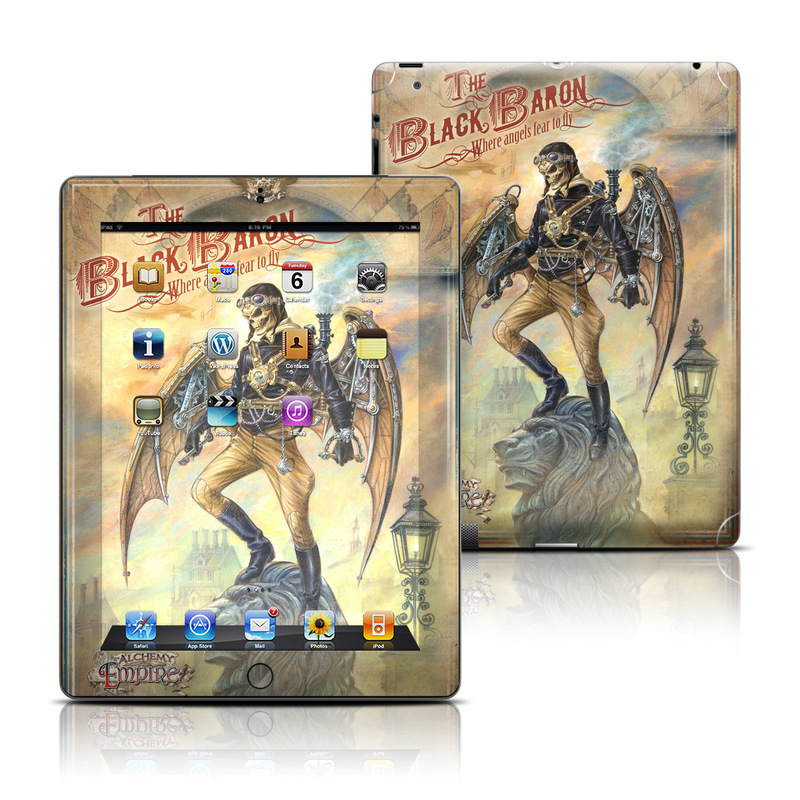 iPad 3rd & 4th Gen Skin design of Fictional character, Poster, Illustration, Mythology, Fiction, Cg artwork, Art, Warlord, Demon, Games with yellow, orange, black, red colors