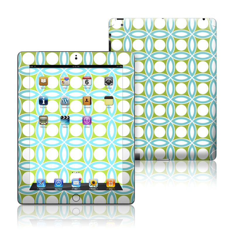 Blue Geo Apple iPad Skin