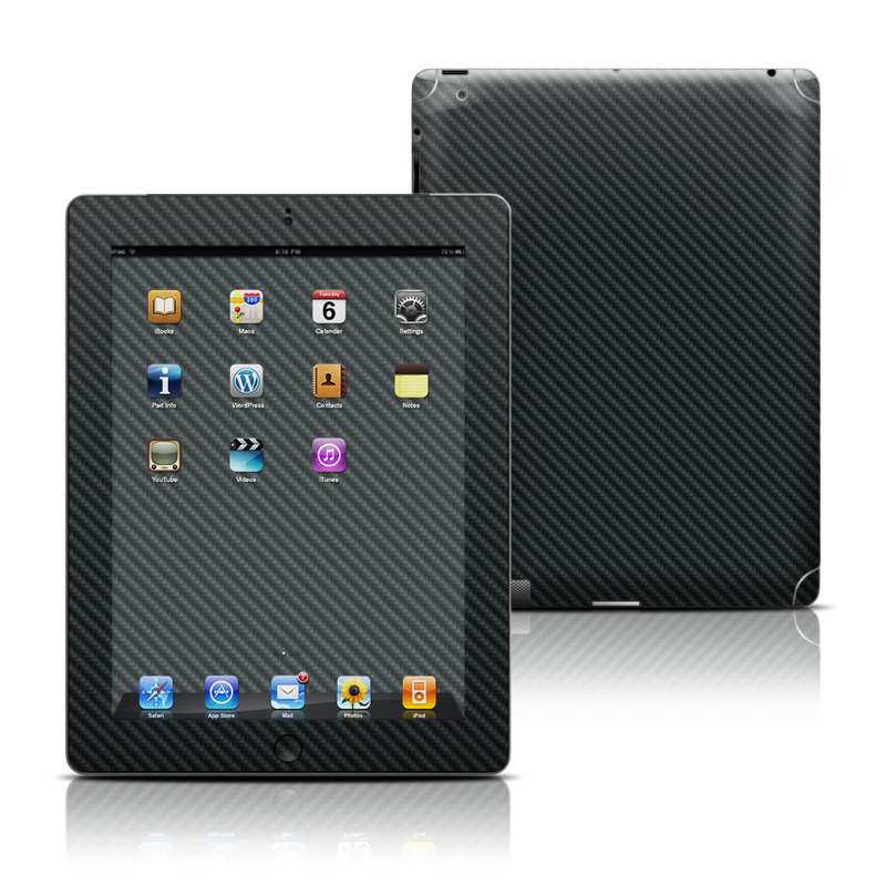 Carbon Apple iPad Skin