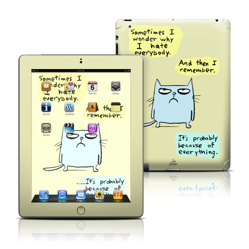 Catwad Hate iPad Skin