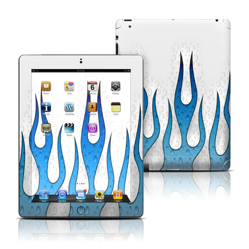 iPad 3rd & 4th Gen Skin design of Drop, Water with white, blue colors