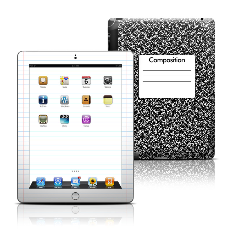 Composition Notebook iPad 3rd & 4th Gen Skin