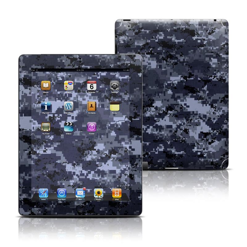 Digital Navy Camo iPad 3rd & 4th Gen Skin