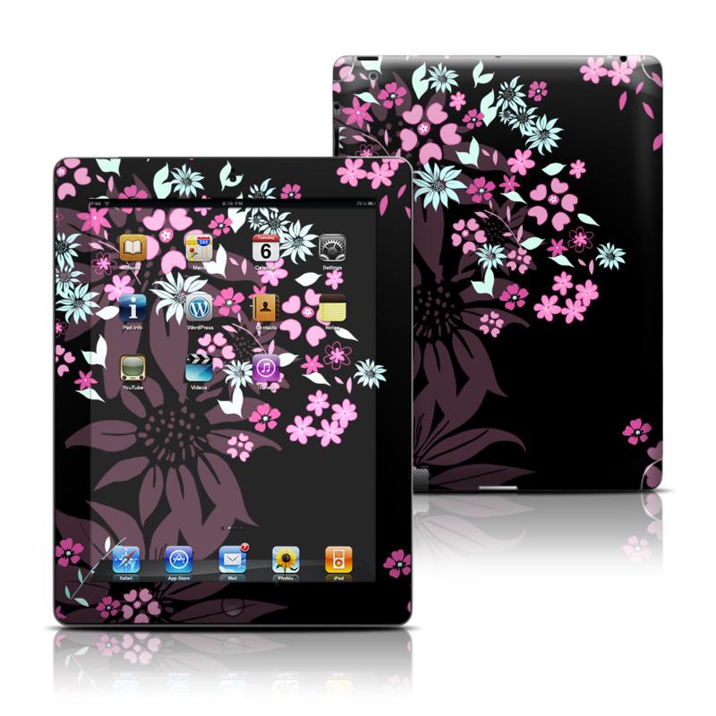 Dark Flowers Apple iPad Skin