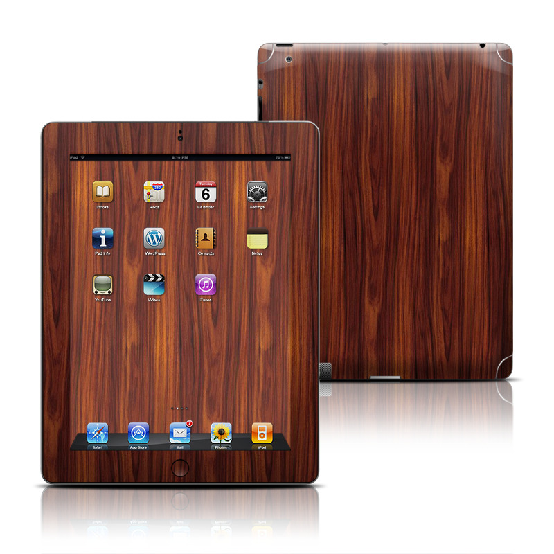 Dark Rosewood Apple iPad Skin