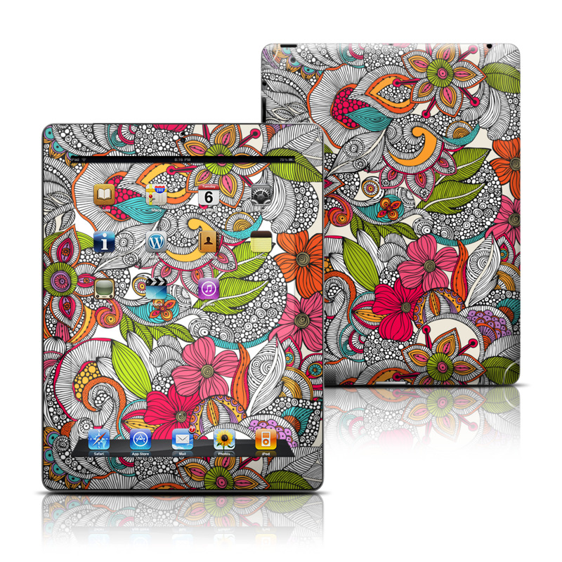 Doodles Color Apple iPad Skin