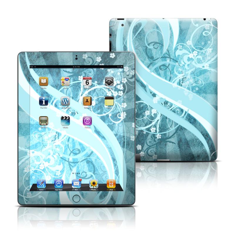 Flores Agua Apple iPad Skin