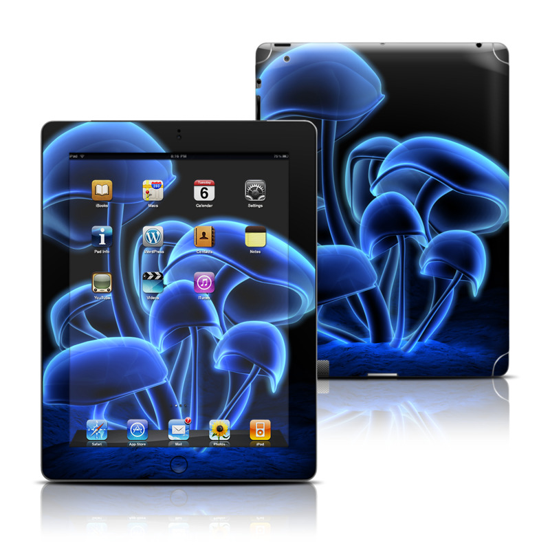 Fluorescence Blue Apple iPad Skin