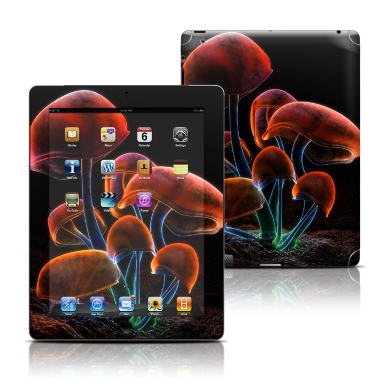 Fluorescence Rainbow Apple iPad Skin