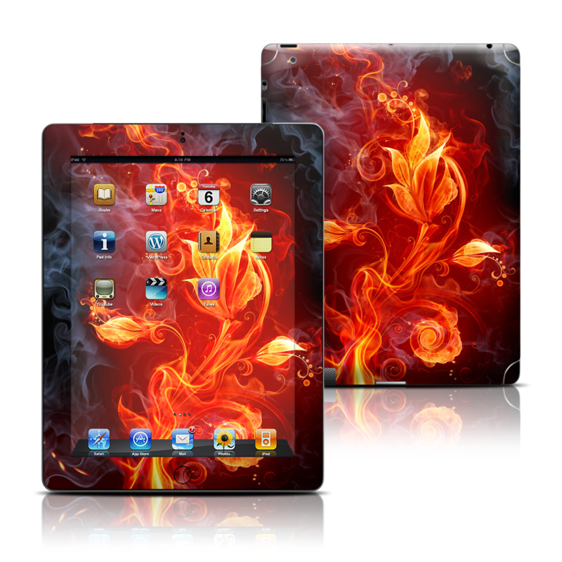 Flower Of Fire Apple iPad Skin