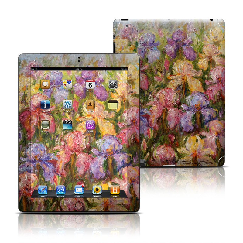 Field Of Irises iPad 3rd & 4th Gen Skin