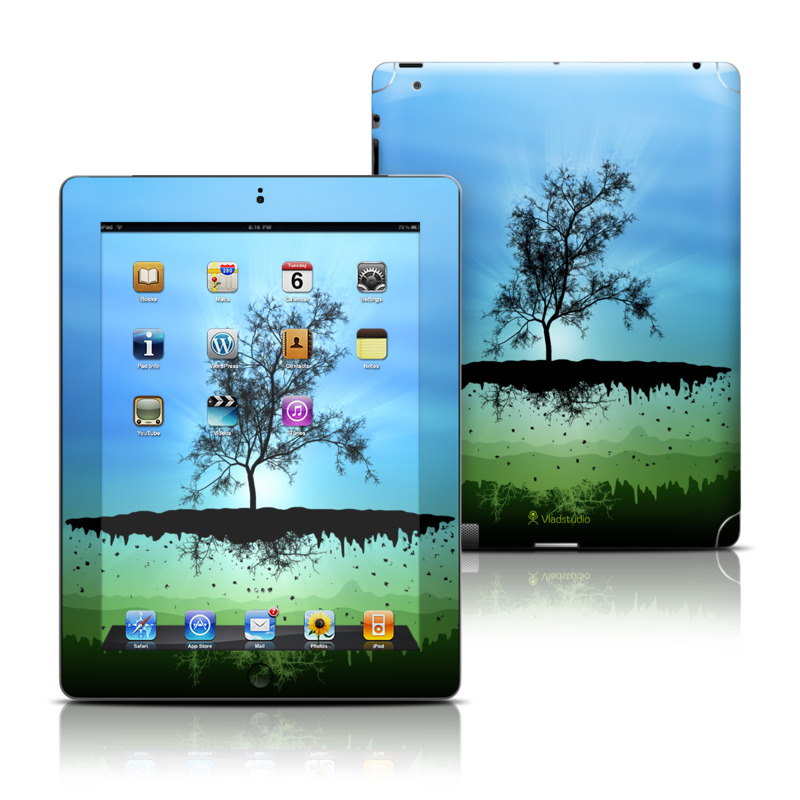 Flying Tree Blue Apple iPad Skin