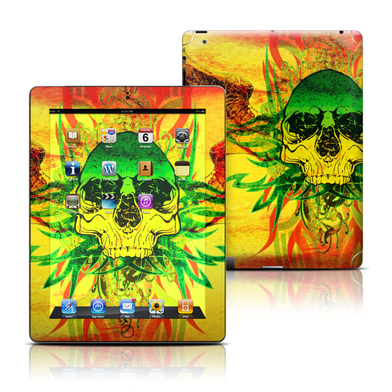 Hot Tribal Skull iPad 3rd & 4th Gen Skin