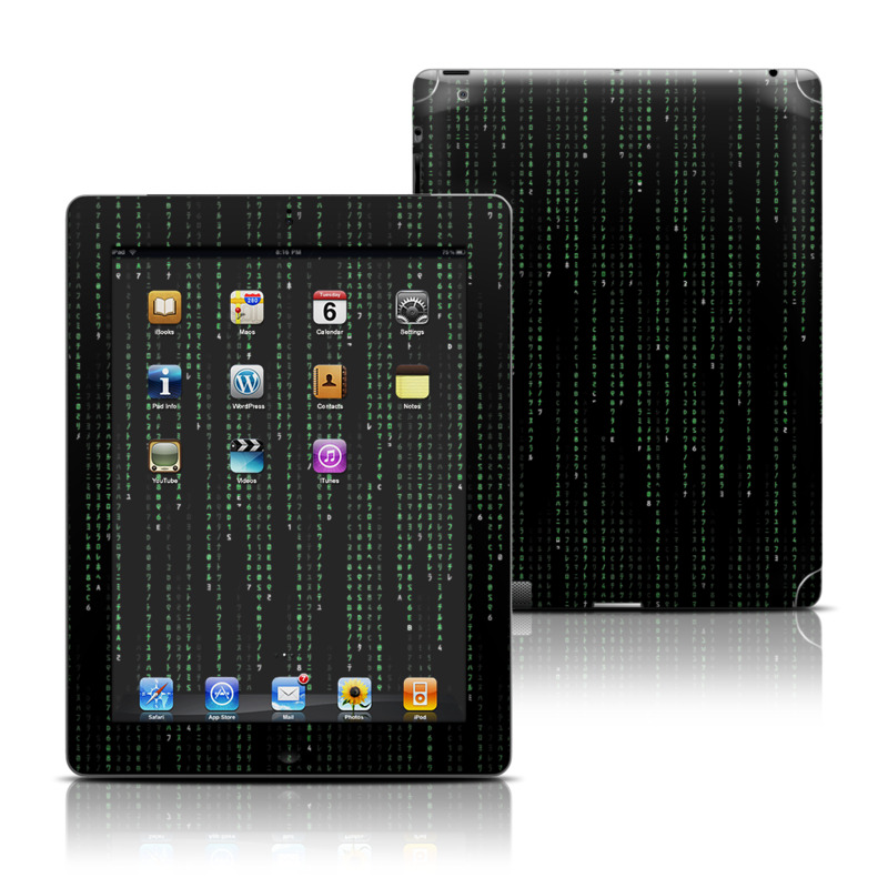 Matrix Style Code Apple iPad Skin