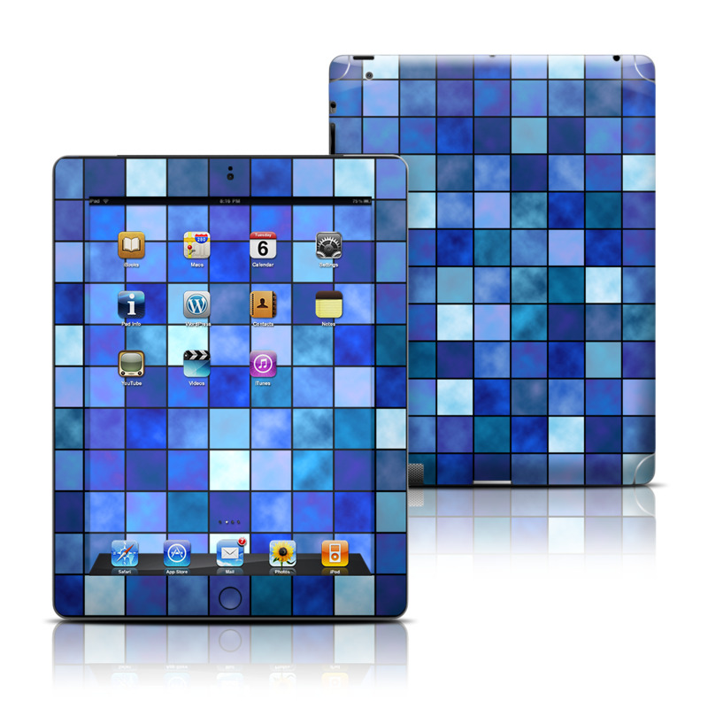 Blue Mosaic Apple iPad Skin