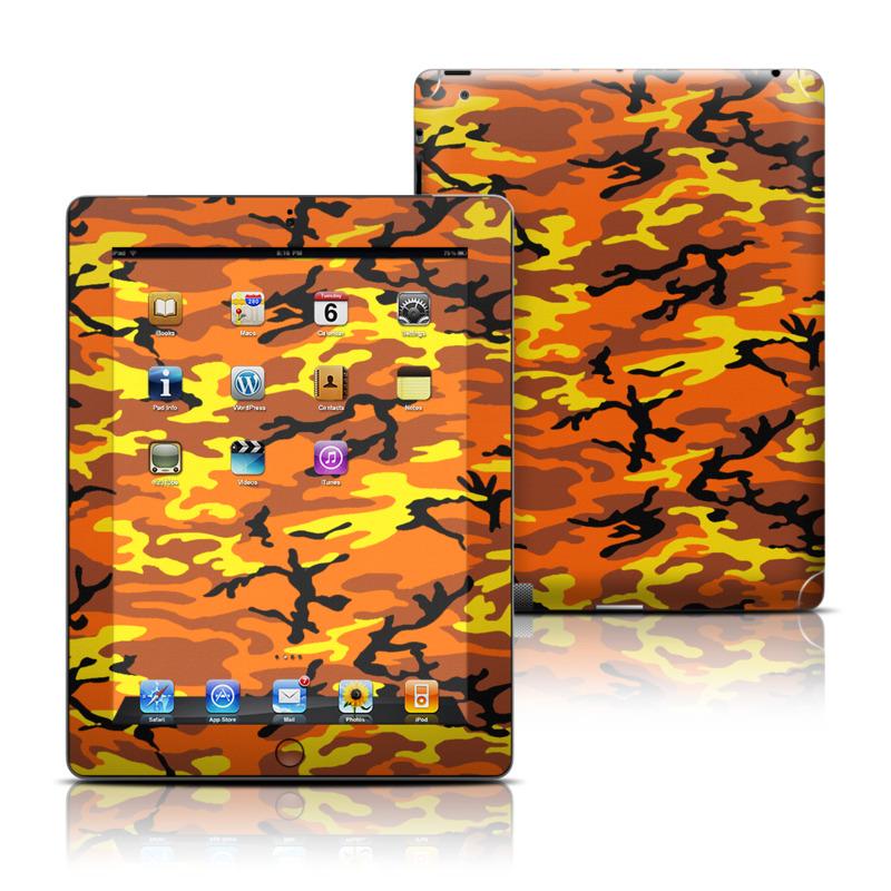 Orange Camo Apple iPad Skin