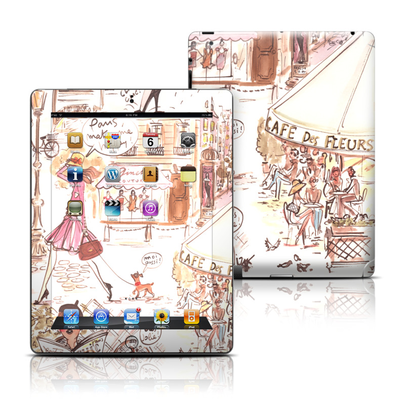Paris Makes Me Happy Apple iPad Skin
