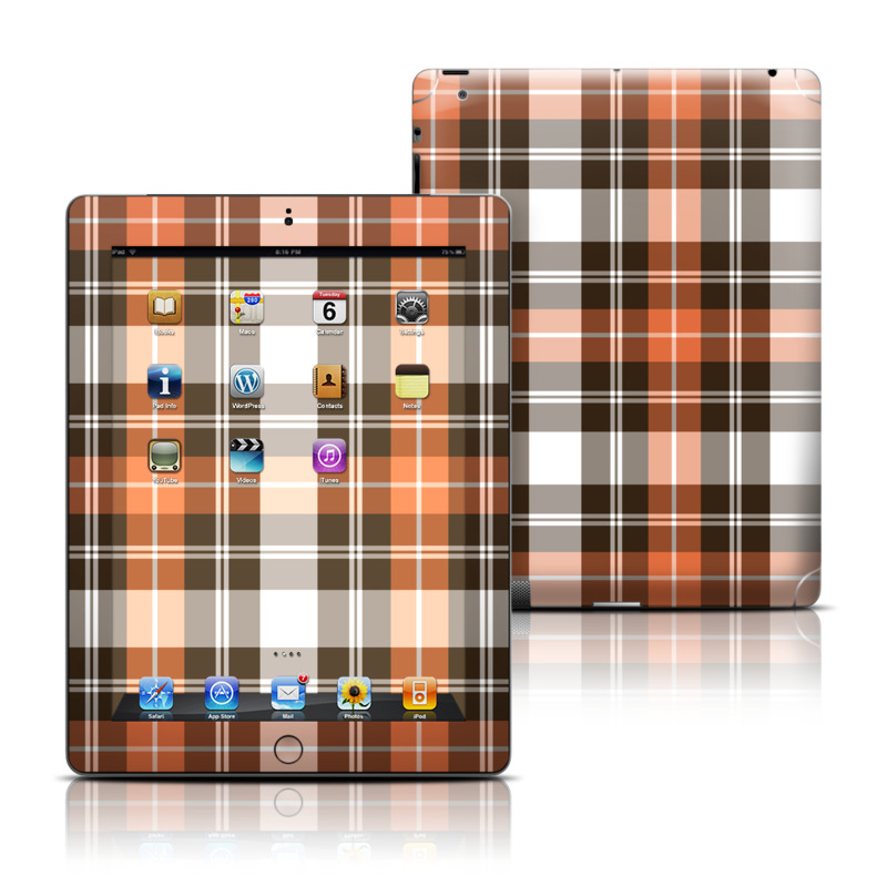 Copper Plaid iPad Skin