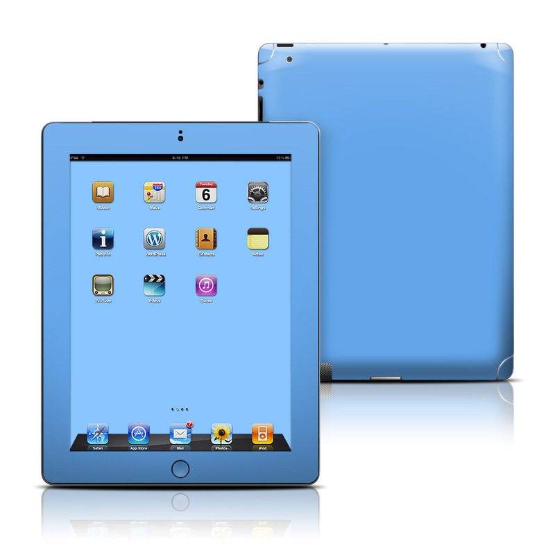 Solid State Blue iPad 3rd & 4th Gen Skin