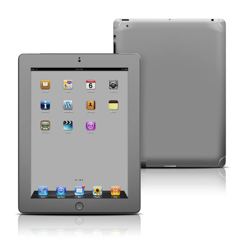 Solid State Grey iPad 3rd & 4th Gen Skin
