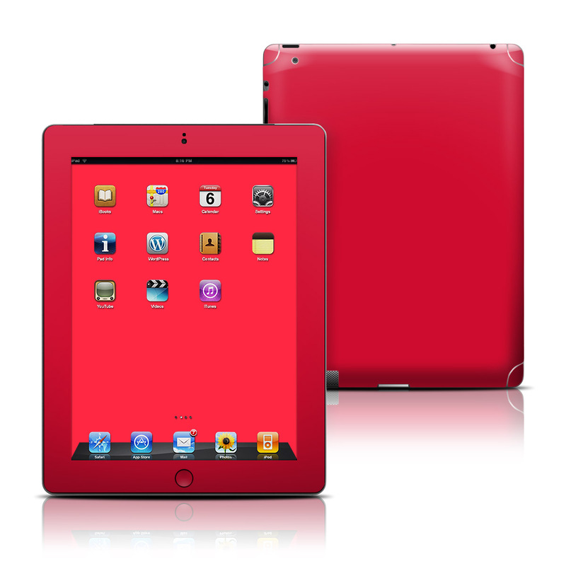 Solid State Red iPad 3rd & 4th Gen Skin