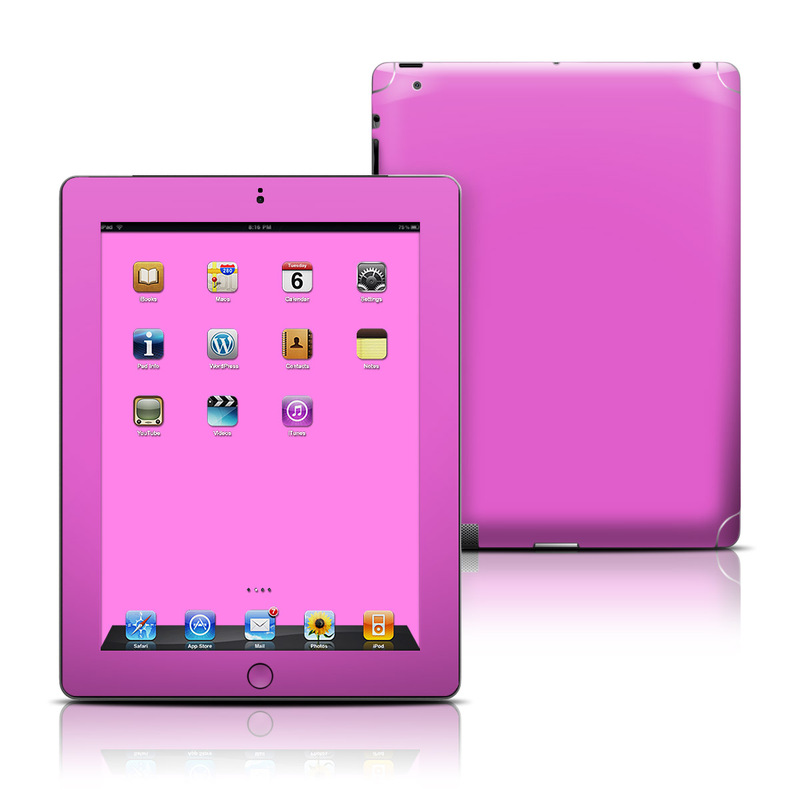 iPad 3rd & 4th Gen Skin design of Violet, Pink, Purple, Red, Lilac, Magenta, Blue, Lavender, Text, Sky with pink colors