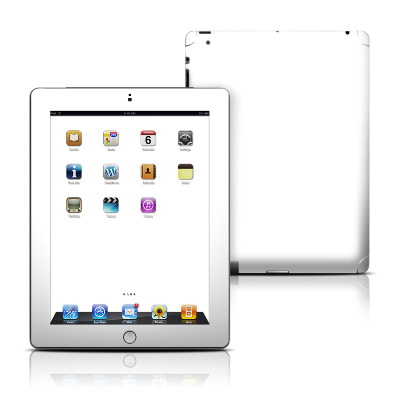 Solid State White iPad 3rd & 4th Gen Skin