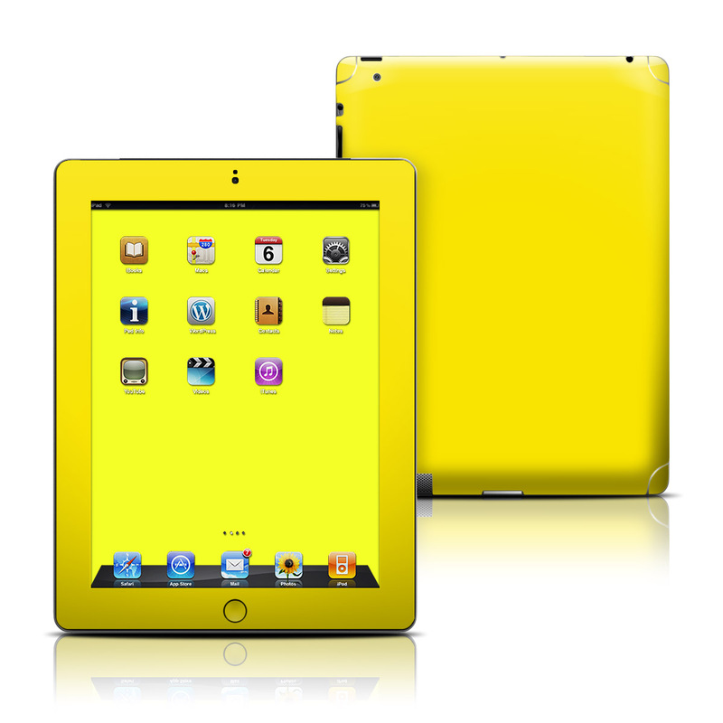 Solid State Yellow iPad 3rd & 4th Gen Skin