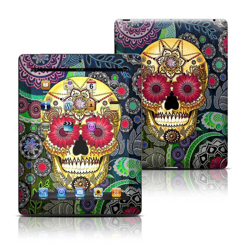 Sugar Skull Paisley iPad 3rd & 4th Gen Skin
