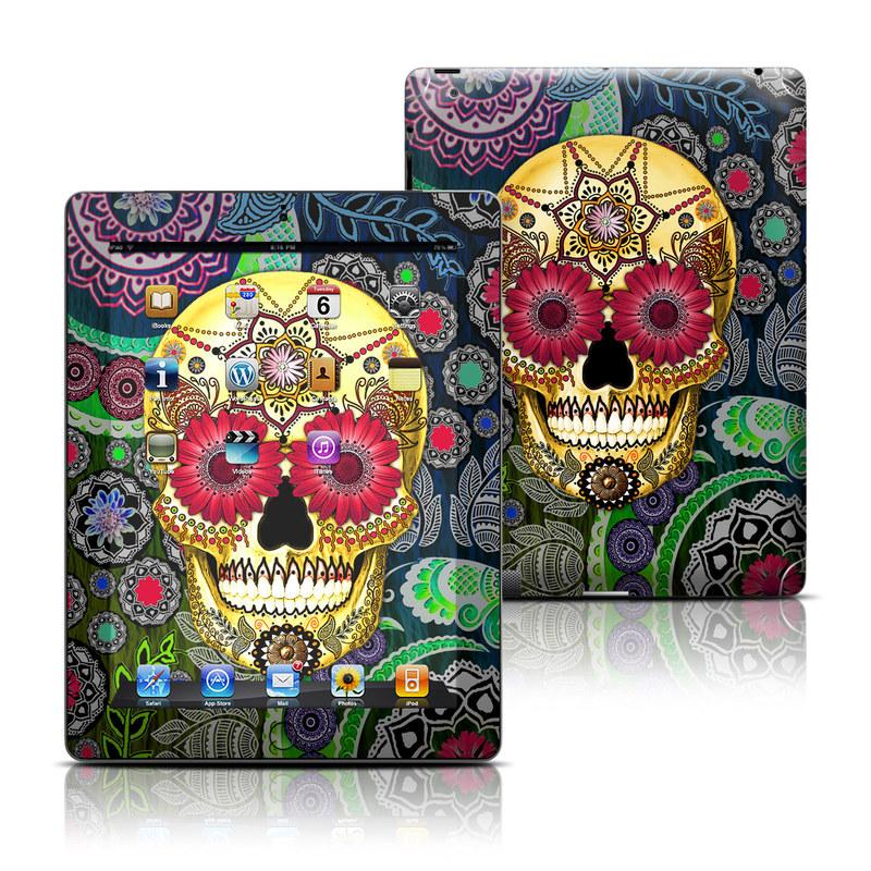 Sugar Skull Paisley iPad Skin