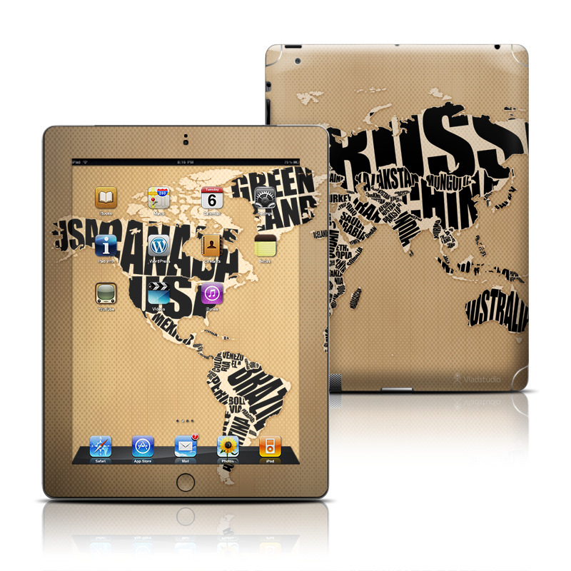 Type Map iPad 3rd & 4th Gen Skin