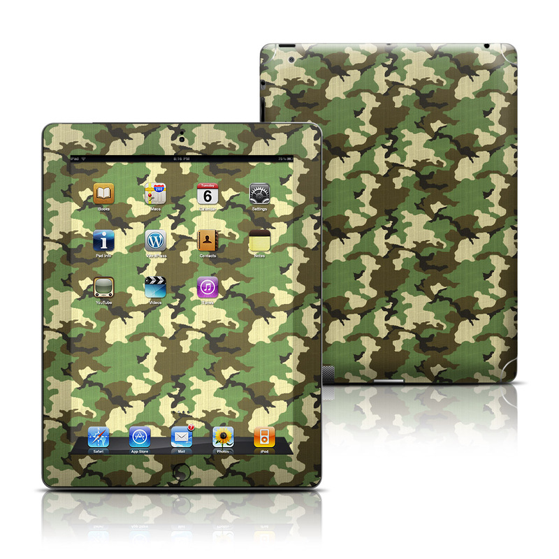 Woodland Camo Apple iPad Skin