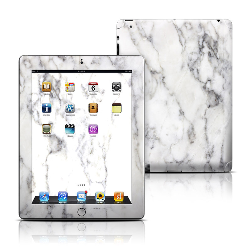 White Marble iPad 3rd & 4th Gen Skin