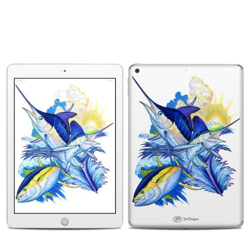 Blue White and Yellow iPad 5th Gen Skin