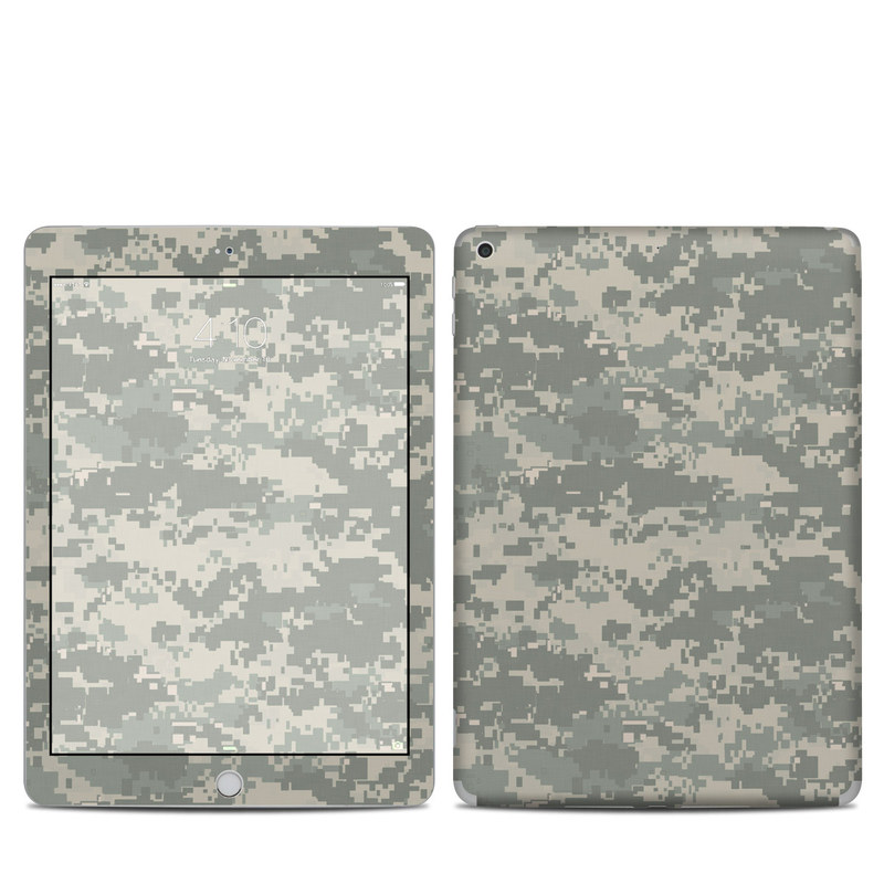 iPad 5th Gen Skin design of Military camouflage, Green, Pattern, Uniform, Camouflage, Design, Wallpaper with gray, green colors