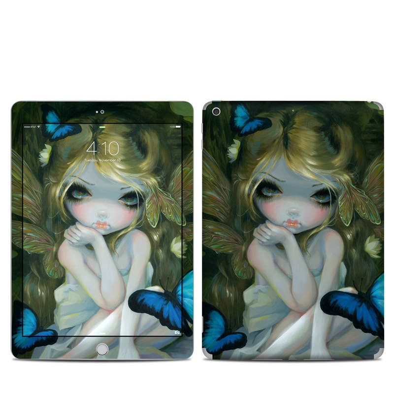 iPad 5th Gen Skin design of Art, Cg artwork, Illustration, Painting, Cheek, Eye, Acrylic paint, Fictional character, Visual arts, Iris with yellow, blue, pink, white, green colors
