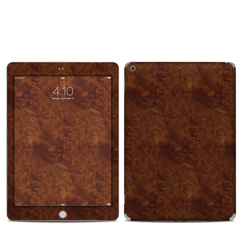 Dark Burlwood iPad 5th Gen Skin