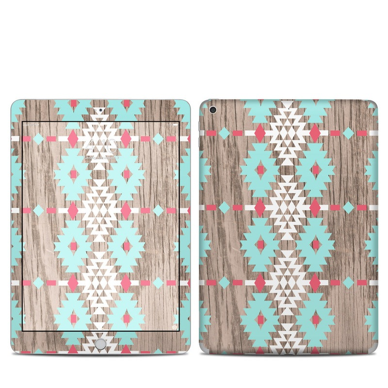 iPad 5th Gen Skin design of Pattern, Brown, Textile, Line, Pink, Design, Quilt, Beige, Symmetry with gray, white, purple, green colors