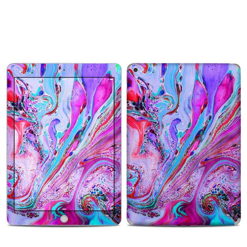 iPad 5th Gen Skin design of Pink, Purple, Pattern, Design, Visual arts, Art, Psychedelic art, Magenta, Acrylic paint, Colorfulness with pink, purple, blue, green colors