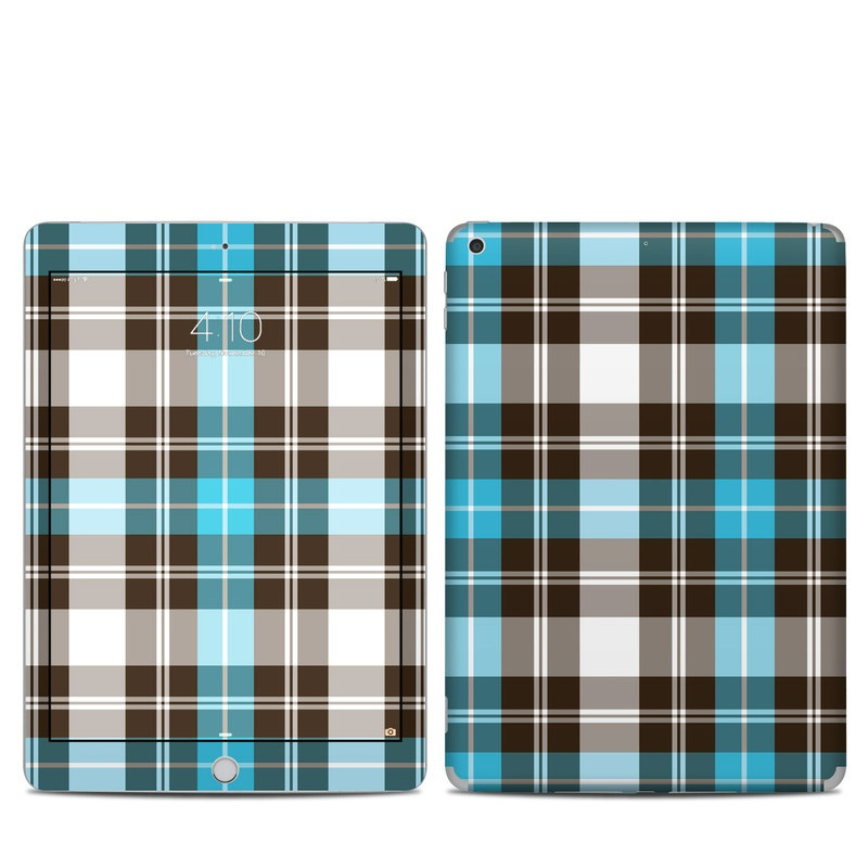 Turquoise Plaid iPad 5th Gen Skin