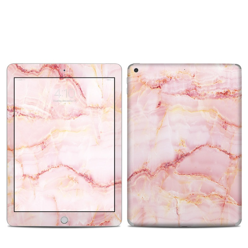 iPad 5th Gen Skin design of Pink, Peach with white, pink, red, yellow, orange colors
