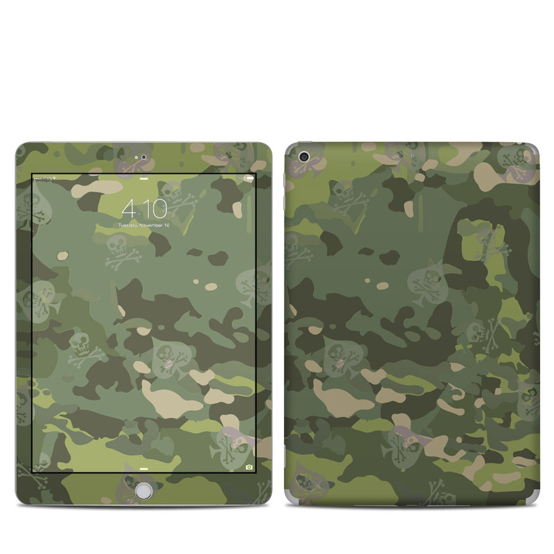 iPad 5th Gen Skin design of Military camouflage, Pattern, Camouflage, Uniform, Clothing, Green, Design, Leaf, Plant, Illustration with green, brown colors
