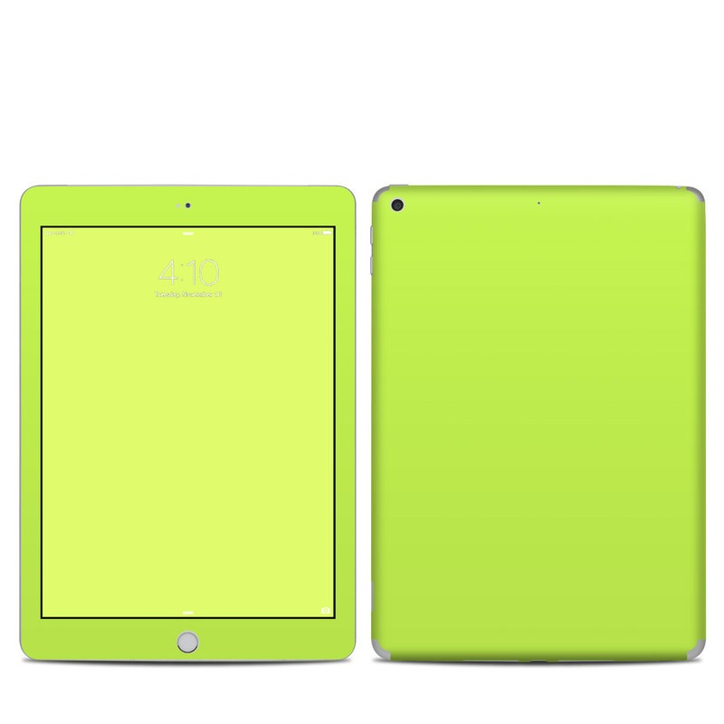 iPad 5th Gen Skin design of Green, Yellow, Text, Leaf, Font, Grass with green colors