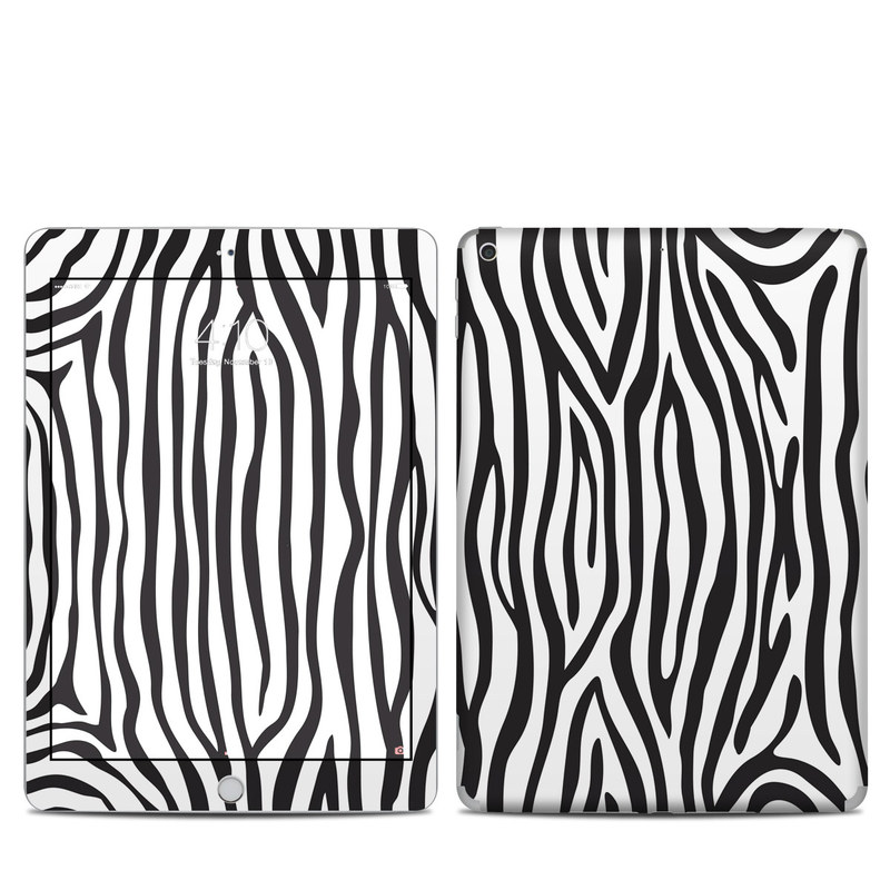 iPad 5th Gen Skin design of Pattern, Line, Design, Monochrome, Black-and-white, Wildlife, Parallel with black, white, gray colors